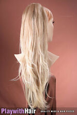 Luxurious Hair Piece Extensions Natural Blonde Tips