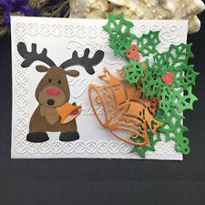 Christmas Reindeer Metal Cutting Dies Stencil Scrapbooking Card Paper Embossing