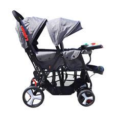 Baby Zwillingswagen Geschwisterwagen Doppel-Kinderwagen für Zwillinge Oder