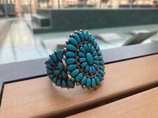 Alice Quam sterling silver 925 Zuni turquoise bracelet cuff signed