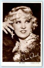 POSTCARD - Mae West, movie star film cinema actress, real photo