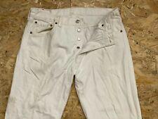 Vintage Denim Jeans Levis 501 Corte Recto Blanco Cierre De Botones W36 L30