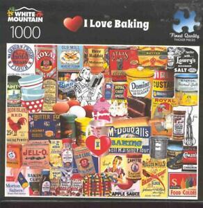 Charlie Girard White Mountain Jigsaw Puzzle 1000 Pc I Love Baking NIB