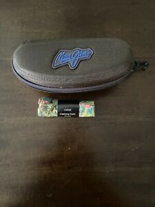 Maui Jim Zip Sports soft Case  w/ cloth Brown