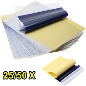 UK 25/50X Sheets Pro Tattoo Stencil Transfer Paper Profesional Tatoo Art Tools