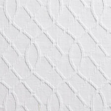 B0030A White Lattice Woven Upholstery Fabric By The Yard
