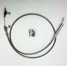 CHEV TURBO 400 T400 TRANSMISSION KICK DOWN CABLE BRAIDED STAINLESS STEEL HOT ROD