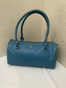 Kate Spade Blue Leather Satchel Doctor Handbag