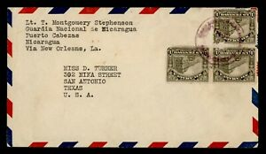 DR WHO NICARAGUA PUERTO CABEZAS AIRMAIL TO USA  g23024