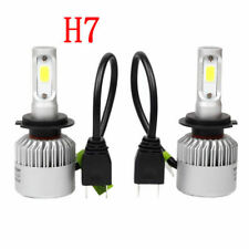 H7 LED Headlight Conversion 8000LM 80W COB 6500K White Light Bulbs Waterproof