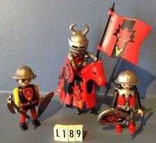 (L189) playmobil Chevaliers du dragon rouge ref 3319 3269 3327 3666 3268
