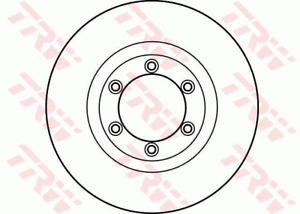 TRW Brake Rotor Pair Front DF4168S fits SsangYong Korando 2.3 (KJ), 2.9 TD (K...