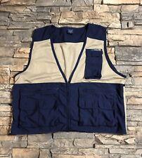 ExOfficio Fishing Vest Men's Size Large Blue Nylon Clean!