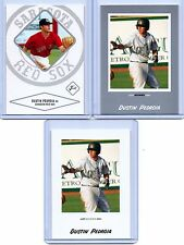 "DUSTIN PEDROIA 2004 JUST MINORS SILVER EDITION ""3"" CARD ROOKIE CARD LOT! RED SOX"