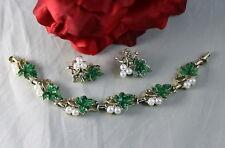 & Earrings Set Cat Rescue Vintage Faux Pearl Grapes Braclet