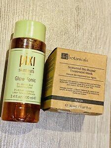 Pixi Glow Tonic 100ml & Dr Botanicals Seaweed Treatment Mask 50ml New Unopened