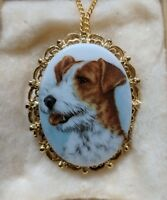 Vintage Terrier Dog Puppy Brooch Pin Pendant Necklace