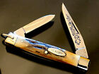 Vintage Rare Case XX 1977 5233 Blue Scroll Prototype With Bail Stag Handle MINT