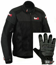 Chaquetas textiles de hombro color principal negro para motoristas