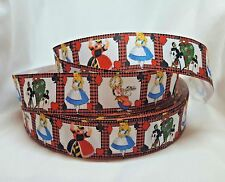 Alice in wonderland Character 25mm Grosgrain Ribbon for Card Making & Bows
