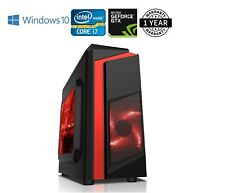 Fast Gaming PC Computer Intel Quad Core i7 16GB 512GB SSD Windows 10 1050TI 4GB