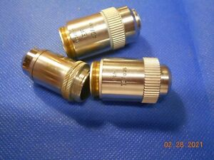 LEITZ MICROSCOPE OBJECTIVES LOT OF 3  #2