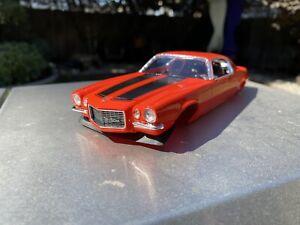 Drag Slot Car Hard Body, Drag Racing, 1970 Chevy Camaro Z28, Orange