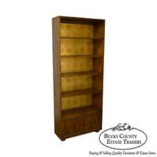 Henredon Campaign Style Open Bookcase Cabinet