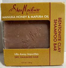 SHEA MOISTURE Manukau Honey & Mafura Oil Bentonite Clay Shampoo Bar New