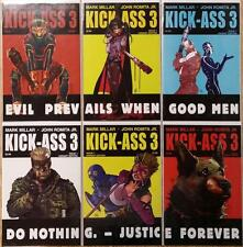 Kick-Ass 3 #1 and #1 connecting Variants, 6 total, NM