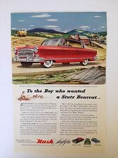 1953 Nash Ambassador Airflyte Automobile Vintage Print Ad