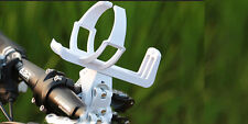 Bike Seat Post Quick Release Bicycle Handlebar Water Bottle Holder Base WHITE