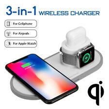 10W Qi Inalámbrico Cargador Carga Rápido Soporte Para iPhone Apple Watch