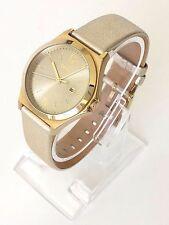 DKNY señora reloj de oro de cuero fecha ny2371 nuevo embalaje original