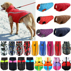 Haustier Hund Kleidung Wasserdicht Hundemantel Fleece Jacke Warme Wintermantel