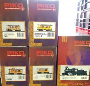 Piko Spur G US Zug Set D&RGW Rio Grande mit Dampflok Mogul Digital + Sound