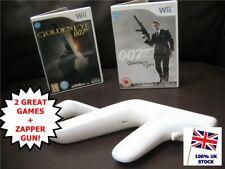 Wii JAMES BOND 007 Mega Bundle GOLDENEYE 007 + QUANTUM OF SOLACE + ZAPPER GUN