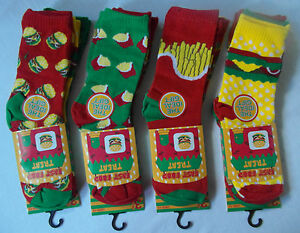 FAST FOOD TREAT 3-pk Everyday use Socks for Kids - Mixed designs