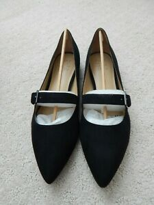 NEW Naturalizer Black Womens TRULY Pointed Toe Mary Jane Flats - Size 8 1/2M