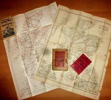 Two 20th century folding maps of Scotland.