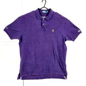 Polo by Ralph Lauren Men Polo Size XL Purple Short Sleeve Button Collard T-Shirt