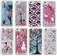 Glitter Cartoon Stars Liquid Novelty Colourful Phone Case Fits iPhone & Samsung