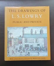 1976 Vintage Book The Drawings of L.S Lowry Public & Private Mervyn Levy