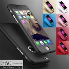 Gradient 360° Hard Ultra thin Case+Tempered Glass Cover For iPhone 5 7 Plus 6s 6