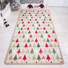 Kids Rugs Childrens Fun Christmas Gifts Boys Girls Bedroom Mats Baby Playmats UK 66cm X 120cm Xmas Tree