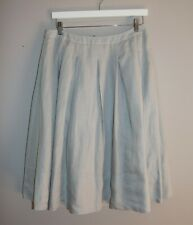 TALBOTS Brand Grey Pleated Linen Skirt Size 8 #AN02