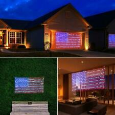 2020 NEW American Flag LED String Net Hanging Light Outdoor Garden Party Decor