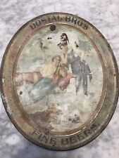 Dostal Bro's Fine Beers Tray Dostal Brewery Bucyrus, Ohio 1902