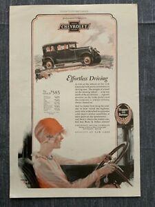 E Chevrolet 1927 Ad 12 x 8 Fred Mizer Illstrator