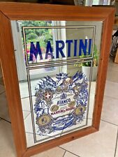 More details for large vintage martini pub picture mirror advertising bar man cave 35 x 25 inch